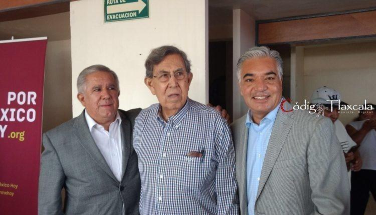 04 Marco Castillo, Cuahutémoc Cárdenas y Gelacio Montiel