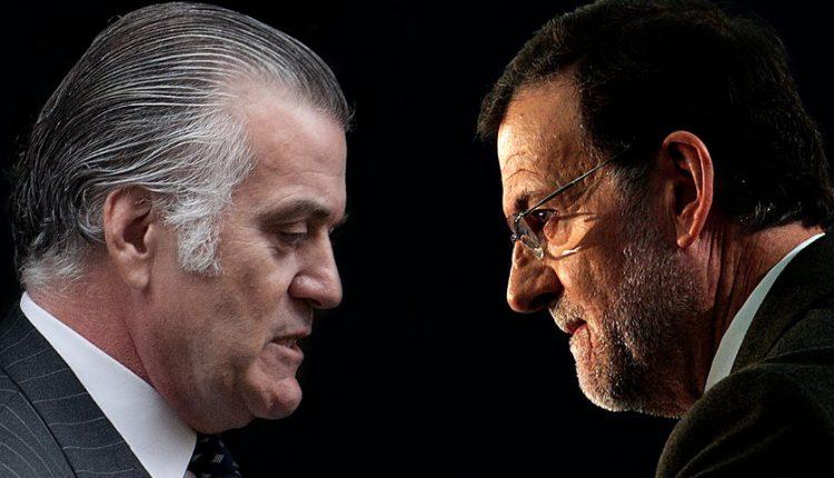 01 Rajoy (der), primer presidente de España llevado ante un juez por corrupción electoral. (elplural.com)