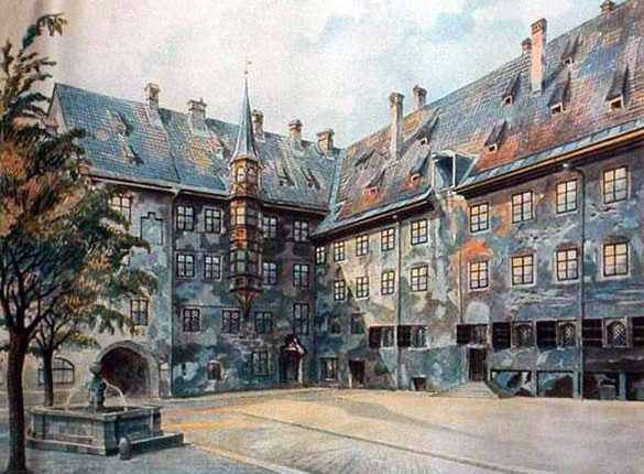 THE COURTYARD OF THE OLD RESIDENCY, MUNICH(1)