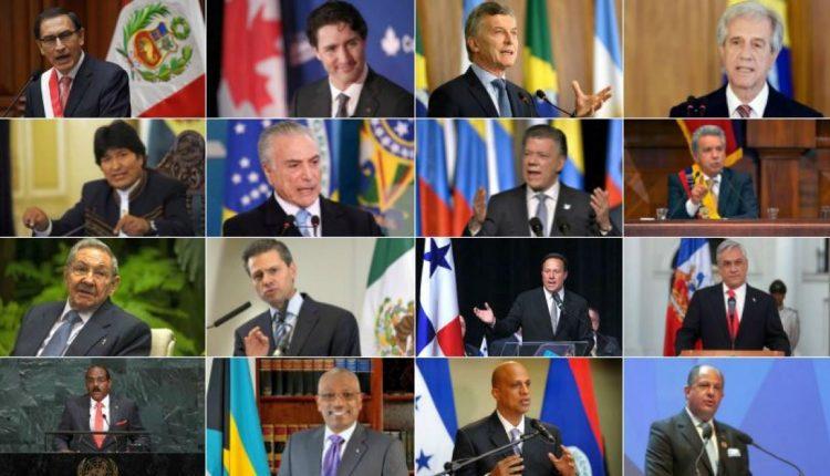 03 1 Asisten 16 presidentes de América, incluidos varios dictadores. IMAGEN elcomercio.pe